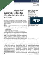 Dimensional Changes of the Alveolar Ridge Contour After Different Socket Preservation Techniques
