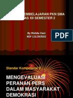 Powerpoint Peranan Pers Di Indonesia