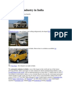 Automotive Industry in India