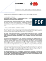 Installation Instructions Insulating Refractory Materials Revision 2 15-12-2010