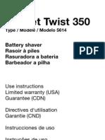 Manual Braun 350 Pocket Twist