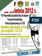 plakat bieg 2012