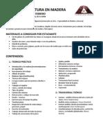 TAV-2012-Programa Academico Taller ESCULTURA EN MADERA