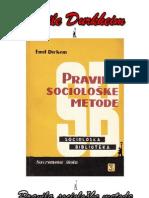 Emile Durkheim - Pravila Socioloske Metode