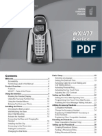 Uniden Cordless WXI477 Owner's Manual
