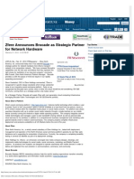 Zfere Announces Brocade as Strategic Partner for Network Hardware