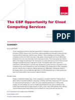 Ovum. The CSP Opportunity for Cloud Computing Services