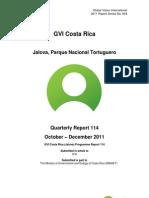GVI Jalova Expedition Phase Report October-December 2011 114