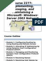 imp Manging & Maintaing Netwrk Infra:::2003 server