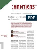 Restaurons le pluralisme en économie