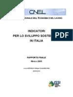 CNEL Rapporto Finale Indicatori