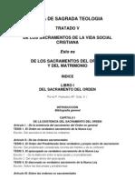 Teología Vol IV Tratado V Lib I Orden