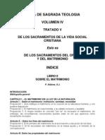 Teología Vol IV Tratado V Lib II Matrimonio