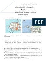 Ficha Formativa 3 de Geografia