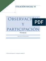 Observación y Participación - investigación social VI