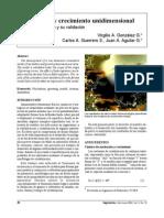 Nucleación y crecimiento unidimensional Parte I