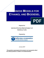 Business Models for Ethanol Production