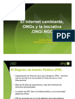 Public Interest Registry ORG ONG NGO Presentation PIR AMGlobal Consulting