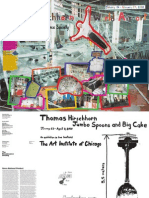 Thomas Hirschhorn Exhibition Poster