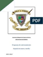 Programa de Entrenamiento Esgrima Histórica