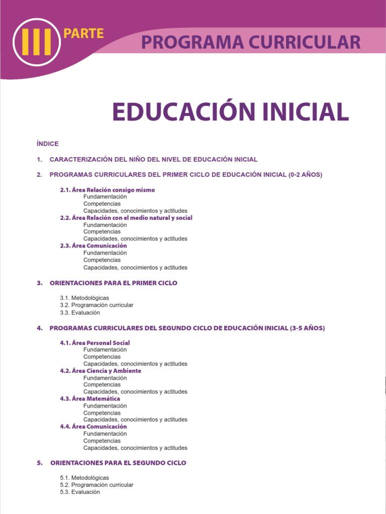 Dcn educacion inicial for Diseno curricular para el nivel inicial