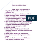 10 Facts About Robert Hooke