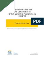 B.C. Class Size Report (Dec 2010)