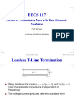 Lecture 4 Transmission Lines With Time Harmonic Exitation