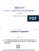 Lecture 10 Laplace's Eq, Curl, and Capacitance