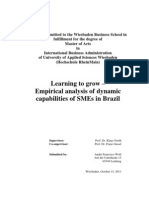 Learning to grow – Empirical analysis of dynamic capabilities of SMEs in Brazil. André Francisco Wolf.