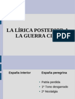 Lírica española posterior a la guerra civil