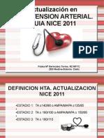 Actualización en HTA. Guía NICE 2011.