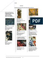Chagall, exposición 2012. Listado de obras.