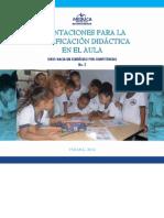 ORIENTACIONES PARA LA PLANIFICACION DIDACTICA EN EL AULA. PANAMA MEDUCA