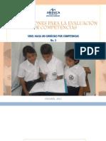 ORIENTACIONES PARA LA EVALUACION POR COMPETENCIAS. PANAMA MEDUCA