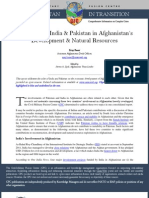 The Roles of India & Pakistan in Afghanistan's Development & Natural Resources