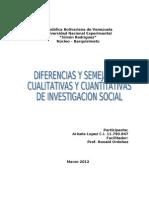 Diferencias y Semejanzas Investigacion Social