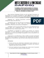 Déclaration sur le viols collectifs perpetres dans la province du Nord Kivu ecrit par CAFCO