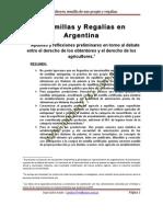 SEMILLAS Y REGALIAS EN ARGENTINA - ACUÑA, Juan Carlos