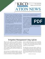 July - August 2006 Irrigation Newsletter, Kings River Conservation District Newsletter