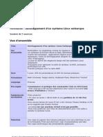 programme formation LINUX EMBARQUE organise par MECATRONIQUE INSAT