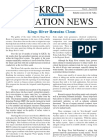 March - April 2008 Irrigation Newsletter, Kings River Conservation District Newsletter