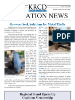 June - July 2008 Irrigation Newsletter, Kings River Conservation District Newsletter