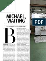 """Michael, Waiting"" - Mikey Havoc, Metro, Jan-Feb 2012"