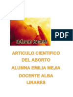 ARTÍCULO CIENTÍFICO SOBRE EL ABORTO