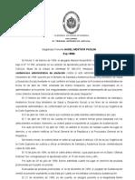 02. Relajar exajeradamente formas NO. Pérez O. vs AAD. Ministerio Salud