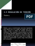2.5 Regulacion de Tension