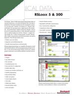 Folleto Technical Data Rslogix 5 y 500