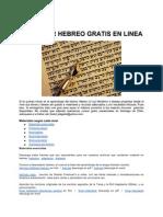 Aprender Hebreo Gratis en Linea 2012