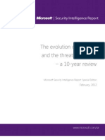 Microsoft Security Intelligence Report Special Edition 10 Year Review